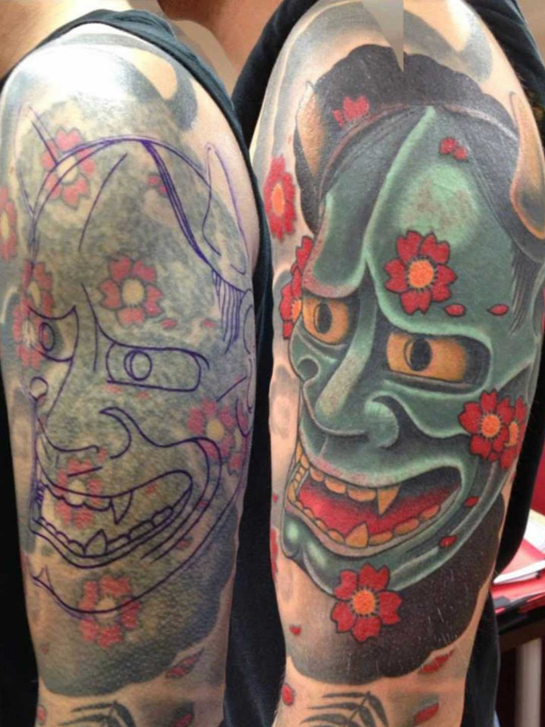 Mask Cover Up Marcus Tattoo Artist