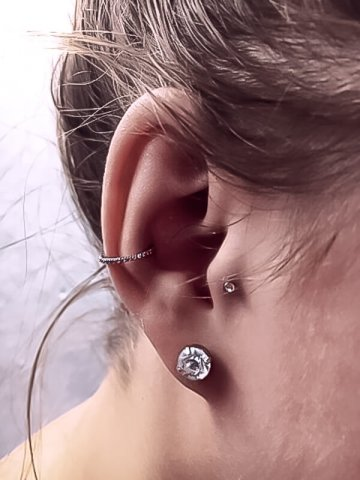 Inner Outer Conch Piercing