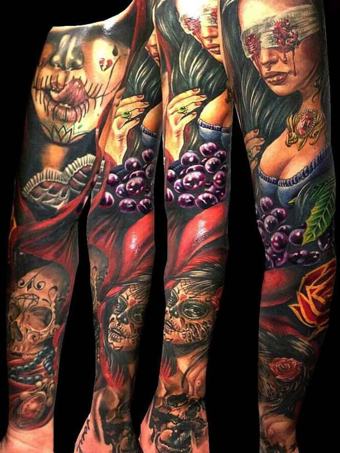 Armtattoo Woman Painting Style Soma Tattoo Artist