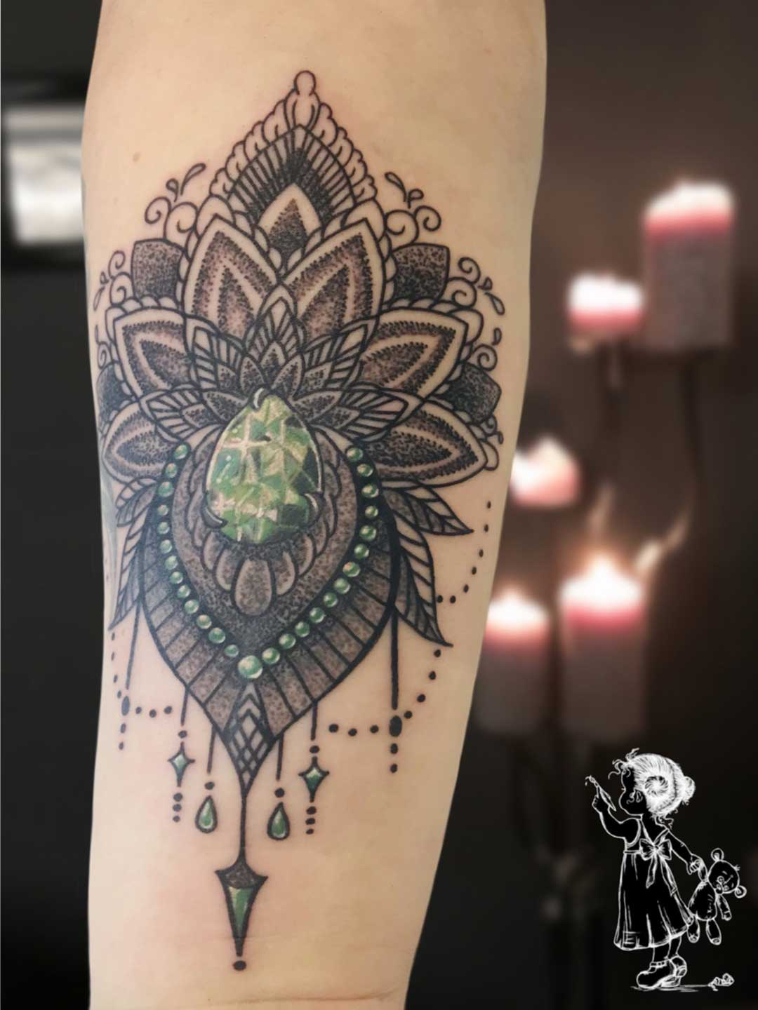 Jewelery Mandala Tina Lee Tattoo Artist