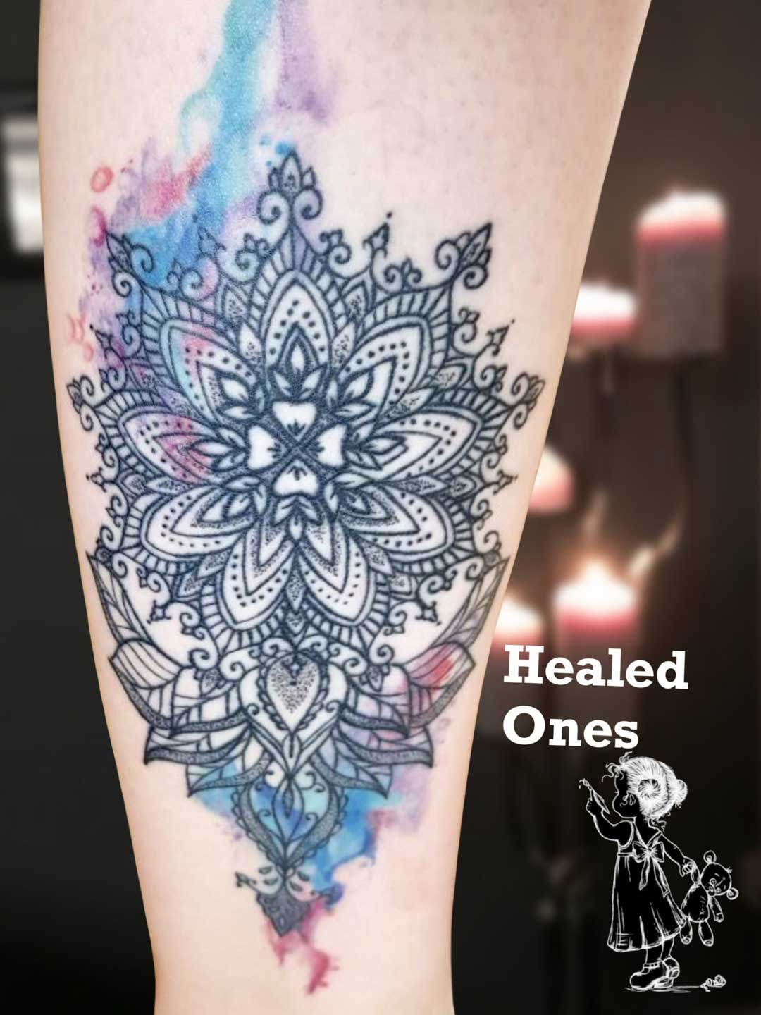 Mandala Aquarell Tina Lee Tattoo Artist