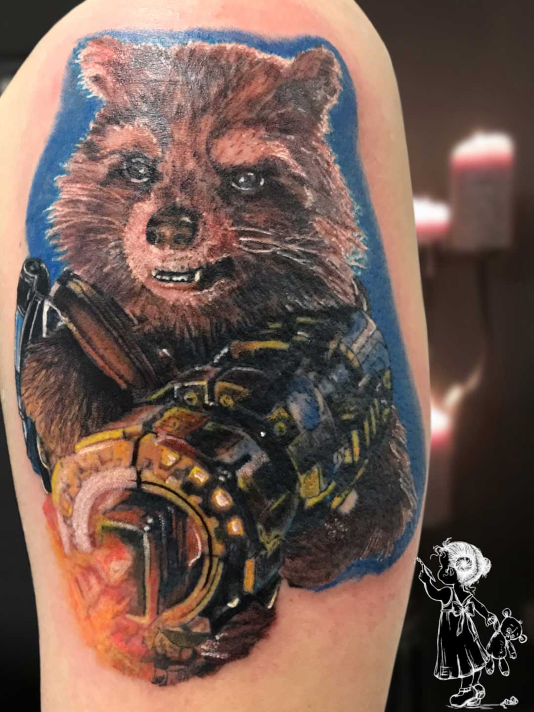 Rocket Realistic Tina Lee Tattoo Artist